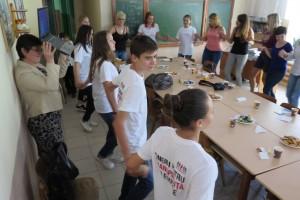 Setkání se studenty ve Vulcanesti